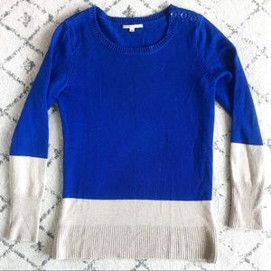 GAP Blue and Tan Sweater Size Small